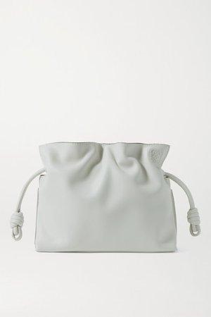 Flamenco Mini Leather Clutch - Off-white