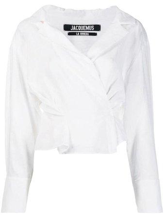 Jacquemus wrap blouse - White