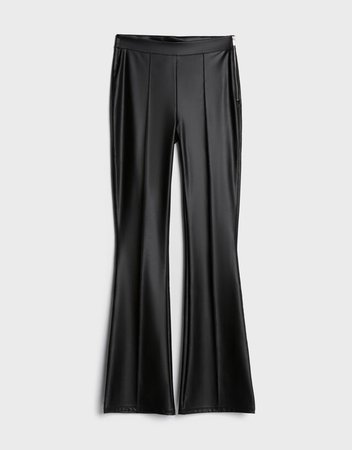 Faux leather flare trousers - Pantolon - Kadın | Bershka