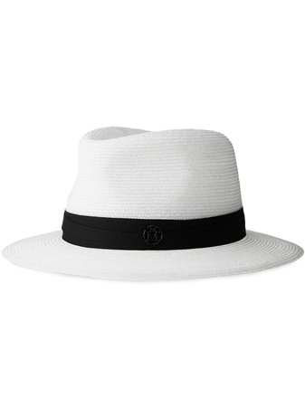 Shop Maison Michel Andre hemp fedora with Express Delivery - FARFETCH