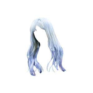 Bangs Blue Hair PNG