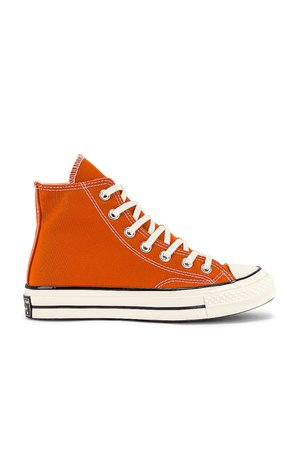 Converse Chuck 70 Hi Sneaker in Fire Pit, Egret, & Black | REVOLVE