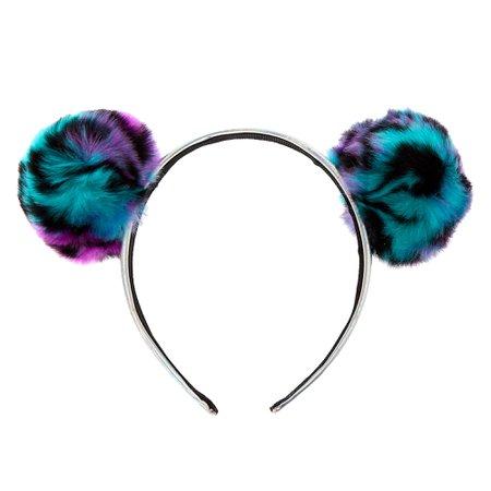 Leopard Pom Pom Holographic Headband