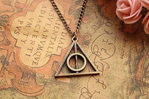 Harry Potter Necklace, retro Bronze Deathly Hallows Pendant Necklace, so Cute and Lovely Necklace, fashion Jewelry, friend Gift | Amazon.com