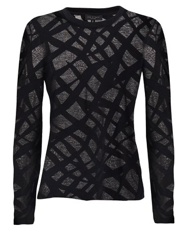 Rag & Bone | Valencia Zebra Burnout T-Shirt | INTERMIX®