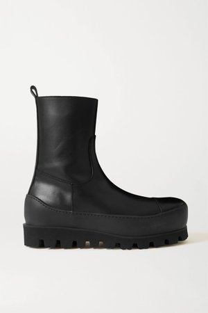 Black Leather ankle boots   Ann Demeulemeester   NET-A-PORTER
