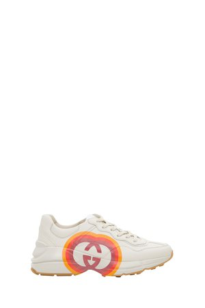 Gucci Rhyton Sneaker With Interlocking G And Heart