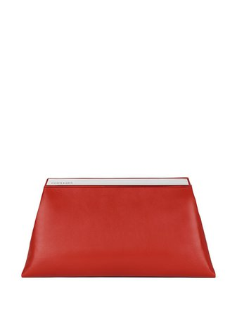 Giuseppe Zanotti Sharyl leather clutch bag red EB10000003 - Farfetch