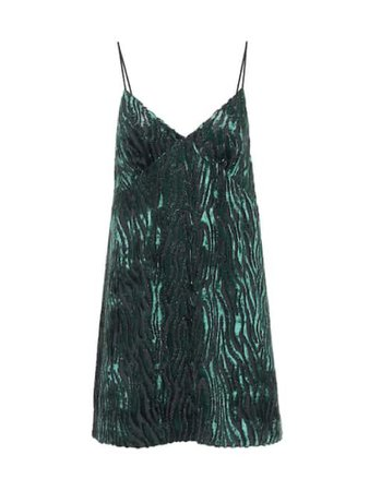 Farfetch Green Velvet Jacquard Dress