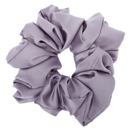 Giant Satin Hair Scrunchie - Grey | Claire's