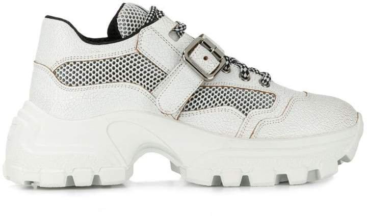 ridged chunky sneakers