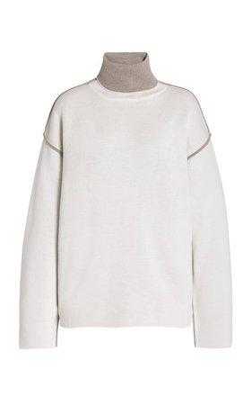 Oversized Wool Mock-Neck Sweater By Victoria Victoria Beckham | Moda Operandi