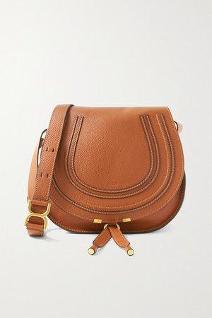 Marcie Medium Textured-leather Shoulder Bag - Tan