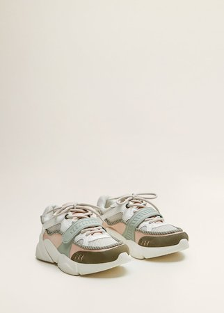 Contrast appliqué sneakers - Women | MANGO USA