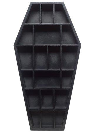 Sourpuss Gothic Black Curio Coffin Shelf