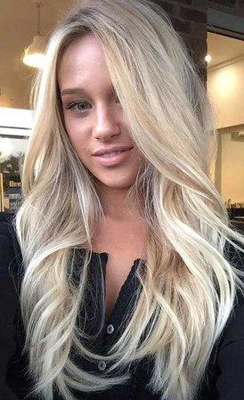 blonde hair haircut chelseahaircutters bleach light bleached curled wavy waves beach curly yellow