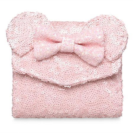 Minnie Mouse Sequined Wallet by Loungefly - Pink