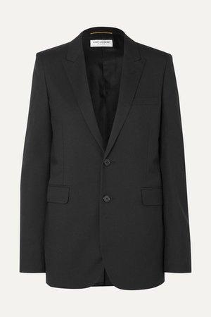 Wool-gabardine Blazer - Black