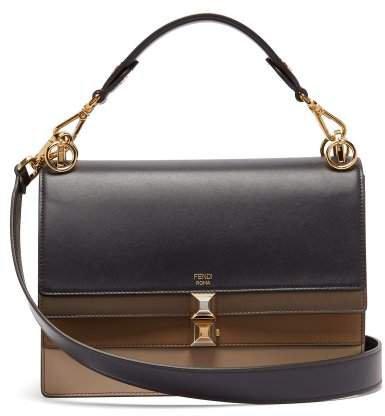 Kan I Leather Shoulder Bag - Womens - Navy Multi
