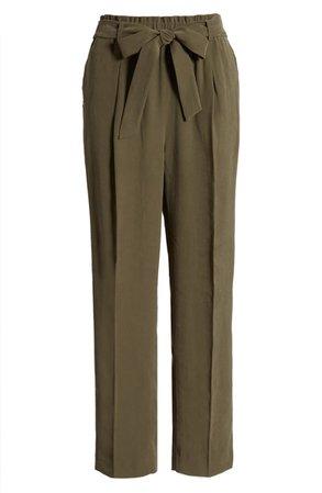 Chelsea28 Straight Leg Tie Waist Pants   Nordstrom