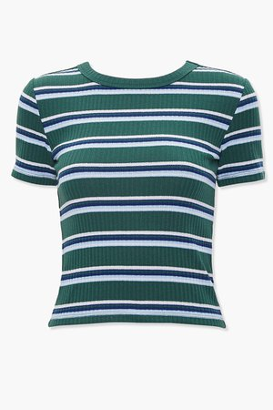 Ribbed Striped Tee | Forever 21