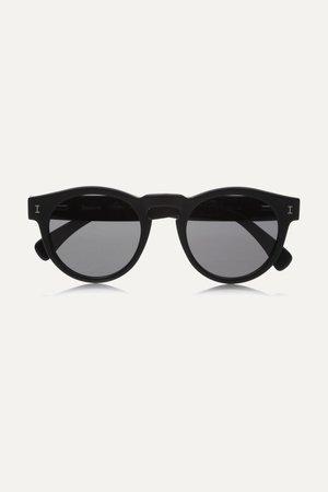 Black Leonard round-frame acetate sunglasses | Illesteva | NET-A-PORTER