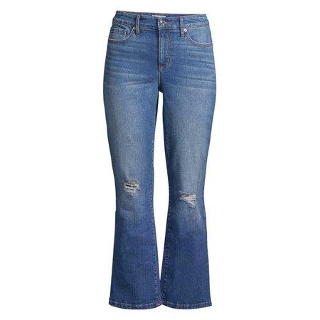 Sofia Vergara - Sofia Jeans by Sofia Vergara Mayra High Waist Crop Kick Flare Jeans, Women's - Walmart.com - Walmart.com