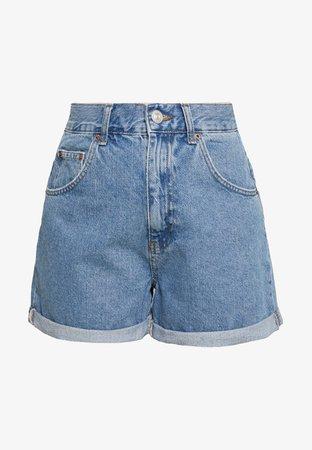 BDG Urban Outfitters ROLLED MOM SHORT - Jeansshort - dark vintage