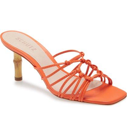 Schutz Dileni Strappy Slide Sandal (Women) | Nordstrom