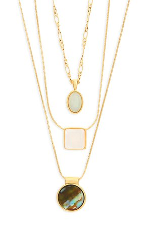 Madewell Geo-Stone Set of 3 Necklaces | Nordstrom