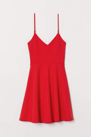 Tie-detail Dress - Red