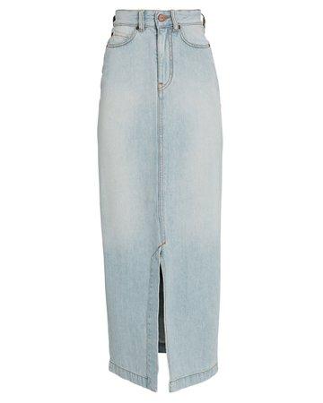 Victoria, Victoria Beckham Split Denim Midi Skirt   INTERMIX®