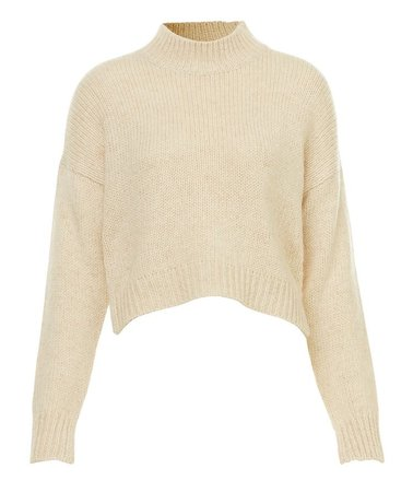 Light Brown Turtleneck Crop Top