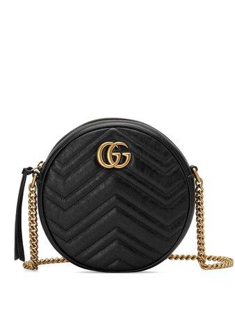 Gucci Black GG Marmont Mini Round Shoulder Bag - Farfetch