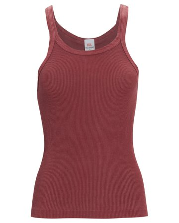 RE/DONE Ribbed Tank Bodysuit | INTERMIX®