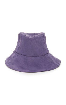 Reinhard Plank Conte Crinkled-Cotton Bucket Hat Size: S