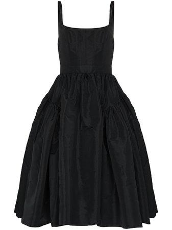 Alexander McQueen gathered-detail sleeveless midi dress - FARFETCH