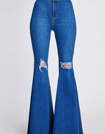 High Waisted Distressed Bell Bottoms - Bow N Arrow Clothing