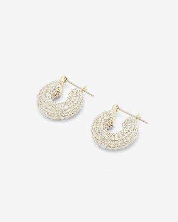 Express X Luv Aj Pave Mini Donut Hoop Earrings | Express