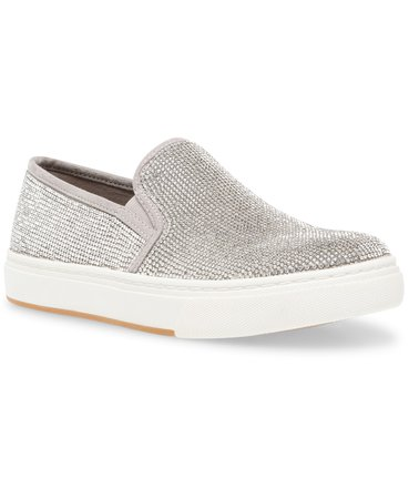 Clear Steve Madden Women's Coulter Rhinestone Slip-On Sneakers & Reviews - Athletic Shoes & Sneakers - Shoes - Macy's