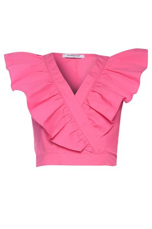 **Ruffle Shoulder Blouse by Glamorous | Topshop