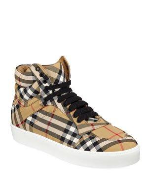 Burberry Albridge Check Sneakers | Neiman Marcus