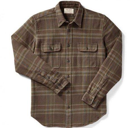 Filson Vintage Flannel Work Shirt Brown - Charcoal - Green Plaid - Black Sheep Skate Shop