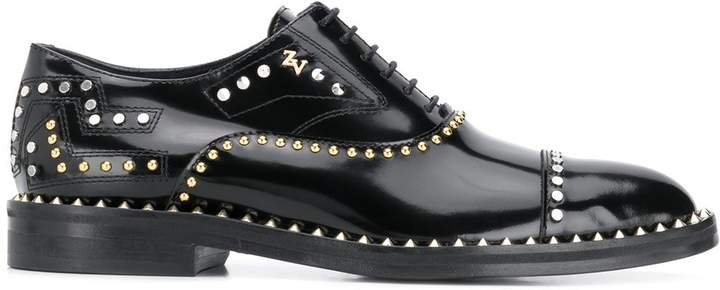 Zadig&Voltaire Youth Studs heeled brogues