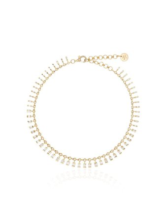 Shay 18Kt Yellow Gold And Diamond Dot Dash Necklace