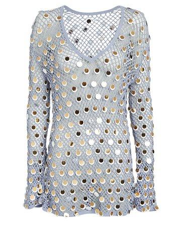 Caroline Constas Mer | Sequined Crochet Dress | INTERMIX®