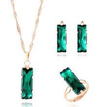 Wyprzedaż green jewelry set Galeria - Kupuj w niskich cenach green jewelry set Zestawy na Aliexpress.com