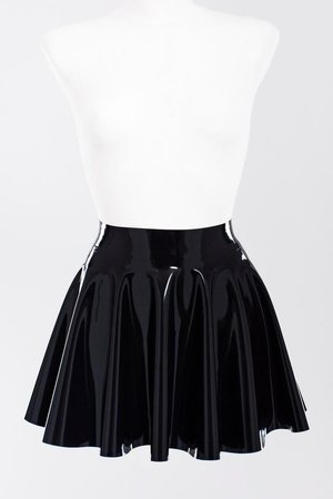 Latex fit-and-flare skirt | Etsy