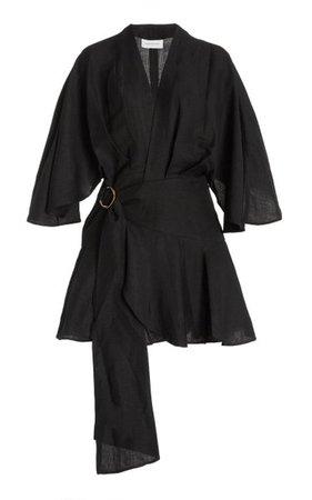 Olivia Linen-Blend Mini Wrap Dress By Significant Other   Moda Operandi