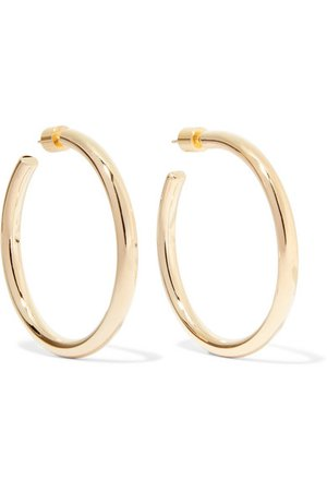 JENNIFER FISHER Baby Lilly gold-plated hoop earrings $350